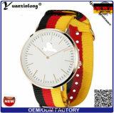Yxl-491 Custom Design Logo Stripe Nylon Nato Correa Relojes Hombres Marca Quartz Moda Deporte Pareja Señora Relojes Reloj