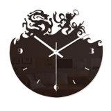 Пластичные черные часы стены вала для домашнего украшения