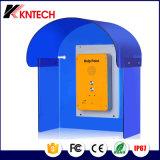 Azul transparente a prueba de sonido cabina telefónica cubierta acústica
