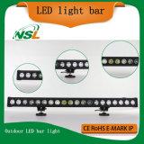 Lumière simple de barre de la barre 4X4 DEL d'éclairage LED du CREE 10W de rangée fabriquée en Chine