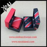 Jacquard de seda por atacado laços feitos sob encomenda tecidos da garganta do logotipo para homens