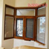 DIY 발코니 크기 디자인 나무로 되는 색깔 알루미늄 프레임 유리제 여닫이 창 그네 Windows