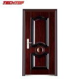 La flor elegante de la puerta de TPS-006 los 9cm diseña la puerta de acero pintada cobre de la Sun-Prueba