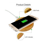 Caricatore senza fili di legno caldo del Qi del telefono mobile di vendita della Cina 2016