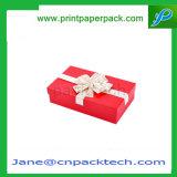 Rectángulo de empaquetado de la manera de la cinta del papel de regalo de la joyería de encargo del rectángulo