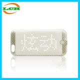 ヘビのスケールデザインiPhone6のための情報処理機能をもったLED表示Bluetoothの電話箱