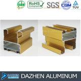 Profil en aluminium de constructeur en aluminium pour la porte de guichet anodisant le bronze anodisé