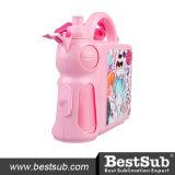 Caixas de almoço plásticas do punho com inserção Rosa (BFH46071PR)