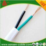 flama do PVC de 2X0.75mm2 H03vvh2-F - cabo isolado retardador da energia eléctrica