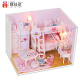 Mini brinquedo cor-de-rosa da base de beliche DIY para meninas