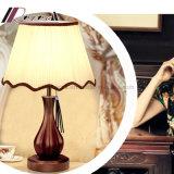 Lámpara de vector de madera verdadera china moderna de la vendimia LED para el dormitorio
