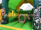 Selva inflable divertido Combo Bouncer con diapositiva desmontable.