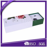 Rectángulo de papel de lujo del perfume que empaqueta con el desplazamiento del cajón