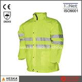 こんにちは気力の防水安全ジャケット雨摩耗の安全衣類