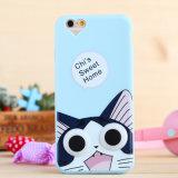 カスタム3Dケイ素のiPhone 6のためのかわいい動物の漫画の携帯電話の箱