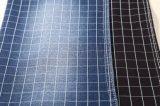 Tricot de coton doux élastique motif de vérification pour les pantalons en tissu denim