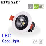 proyector redondo de la iluminación LED del negro LED Downlight LED de la MAZORCA de 10W Aliuminum