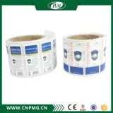 Escritura de la etiqueta auta-adhesivo transparente impermeable de encargo de la etiqueta engomada de la impresión