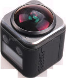 Resistente al agua 4K de 360 grados con Full HD 1080P de deportes de acción de la cámara de vídeo WiFi mini DV
