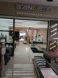 現代ステンレス鋼の家具の上の革ソファーSbo-5933