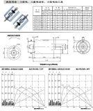 Motor eléctrico del vehículo 10-200W de cortina