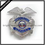 ギフト(BYH-10034)のための品質の金属の銀の機密保護のバッジ