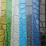 Het heldere Leer van pvc van de Krokodil van de Kleur voor de Decoratie van de Stoelen van Zakken