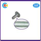 Go/DIN/Carbon-Steel JIS/ANSI/Stainless-Steel 4.8/8.8/10.9 a traversé la tête avec des vis en acier galvanisé