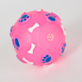 Footprint & Bone Pattern Ball Dog Jouet en vinyle Toy Squeaky Toy