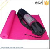 Vouwbare Yoga Mat Thickness van 3mm de Yoga Mat van pvc met Totalisator Bag
