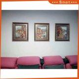 Panel-Segeltuch-Wand-Kunst-Ölgemälde des Spant-3 für Wohnzimmer europäisches Geometric