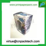 Rectángulo plegable de empaquetado del perfume del papel de encargo de la historieta con la ventana del PVC