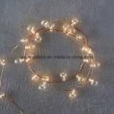 Accueil Décorations LED Cuivre Verre Fil Lumières Bubble Fairy avec minuterie