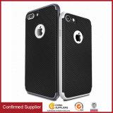 Caso híbrido con la protección interna flexible y capítulo de parachoques duro reforzado para el caso del iPhone 7