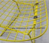 Restaurante moderno Bertoia Metal Tombador cadeira do fio amarelo