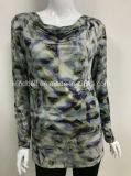 Новый пуловер конструкции для женщин с All-Over печатью цифров