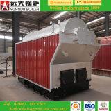 Chaudière à vapeur allumée par bois industriel de perte de combustible solide de grille fixe/chaudière eau chaude