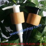 Bomba atomizadora de loción de plástico con bambú