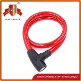Jq8219 schwarze und rote Sicherheits-Stahlkabel-Verschluss-Fahrrad-Verschluss