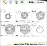 Perfil de aluminio de copo de nieve de buena calidad del material de construcción de disipador de calor