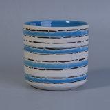 Handlack-blaue und weiße Blumen-Potenziometer-keramischer Großverkauf