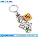 Regalo su ordinazione di promozione di Keychain del metallo dello smalto del ricordo chiave del supporto