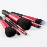 l'estetica rossa e nera di modo del pelo 7PCS compone la spazzola