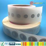 習慣13.56MHz ISO14443AペーパーMIFARE標準的な1K RFIDのスマートなラベルの札