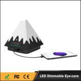 2017 Mais vendidos Multi cor ajustável LED lâmpadas de mesa de carregador elétrico