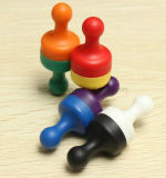 Perni magnetici di spinta nei colori neri, rossi, verdi, gialli, bianchi