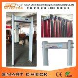 Puerta cilíndrica del detector de metales de la seguridad de la puerta del detector de metales de 6 zonas