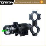 戦術的なハンチングRiflescopeの台紙が付いているピストルのための調節可能な緑レーザーの点のスコープの視力
