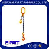 Imbragatura a catena di sollevamento con un piedino