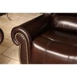 高品質のブラウンの現代革リクライニングチェアのソファー